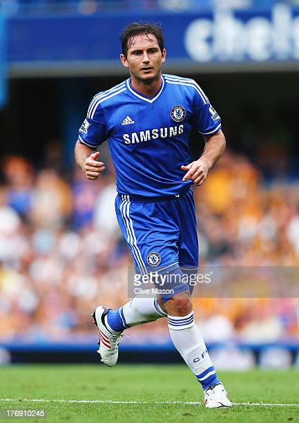 Frank Lampard of Chelsea looks on during the Barclays Premier League match between Chelsea and Hull City at Stamford Bridge on August 18 2013 in...