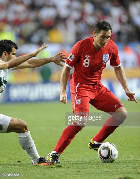 Frank Lampard of England during the 2010 FIFA World Cup South Africa Group C match between Slovenia and England at the Nelson Mandela Bay Stadium on...