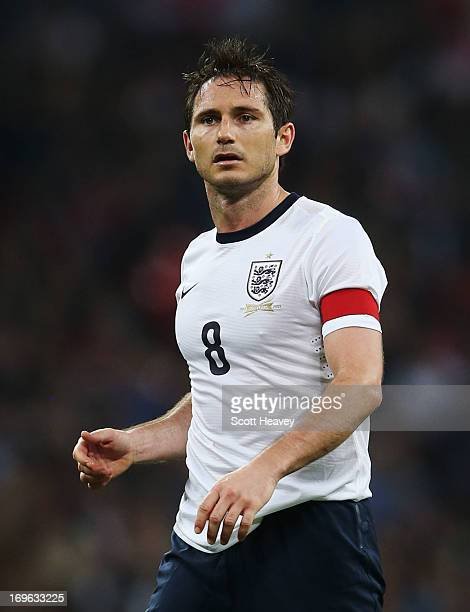 Frank Lampard of England looks on during the International Friendly match between England and the Republic of Ireland at Wembley Stadium on May 29...