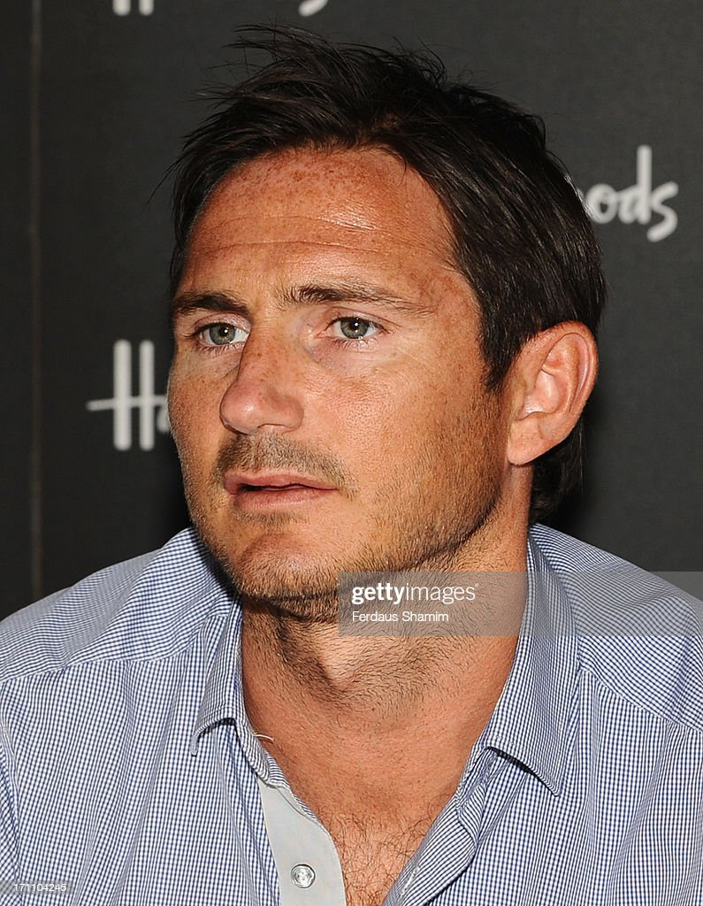 Frank Lampard poses at a photocall ahead of signing copies of his book 'Frankie's Magic football' at Harrods on June 22, 2013 in London, England.