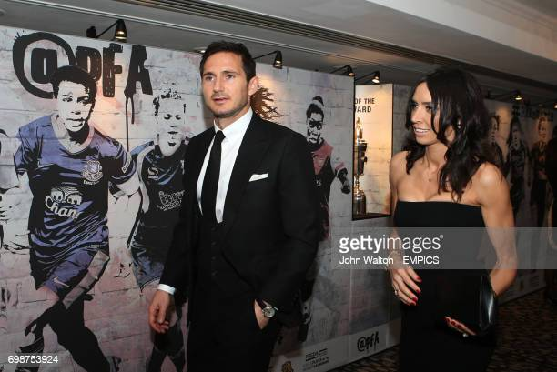 Frank Lampard with Fiancee Christine Bleakley during the PFA Player of the Year Awards 2015 at the Grosvenor House Hotel London