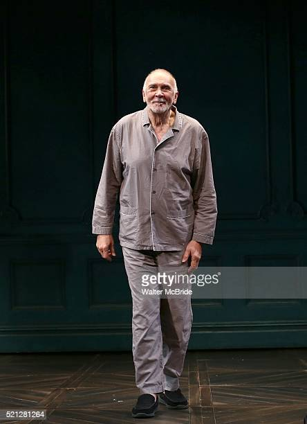Frank Langella during the Opening Night Curtain Call bows for 'The Father' at The Samuel J Friedman Theatre on April 14 2016 in New York City