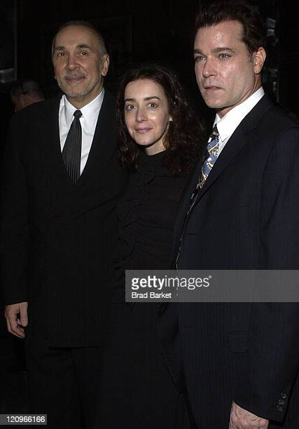 Frank Langella Jane Adams and Ray Liotta during Opening Night of 'Match' After Party at Metronome in New York New York United States