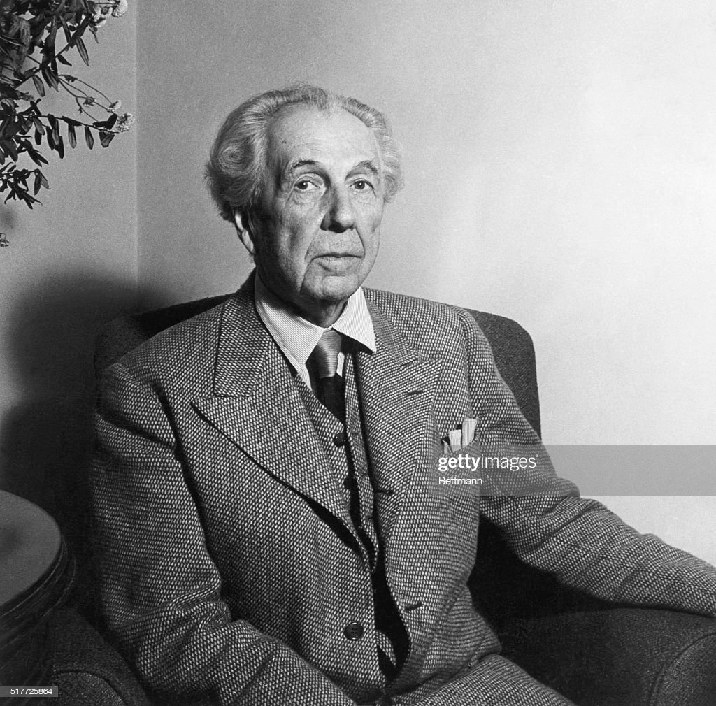 <a gi-track='captionPersonalityLinkClicked' href=/galleries/search?phrase=Frank+Lloyd+Wright&family=editorial&specificpeople=90880 ng-click='$event.stopPropagation()'>Frank Lloyd Wright</a> (1867-1959) American architect at age of 77. Undated photo.