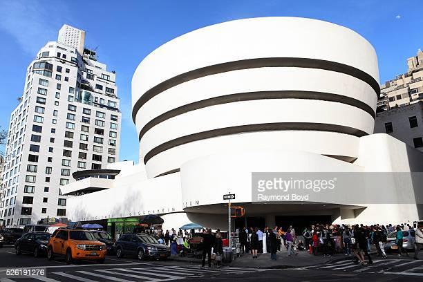 Frank Lloyd Wright's Solomon R Guggenheim Museum in New York New York on April 16 2016