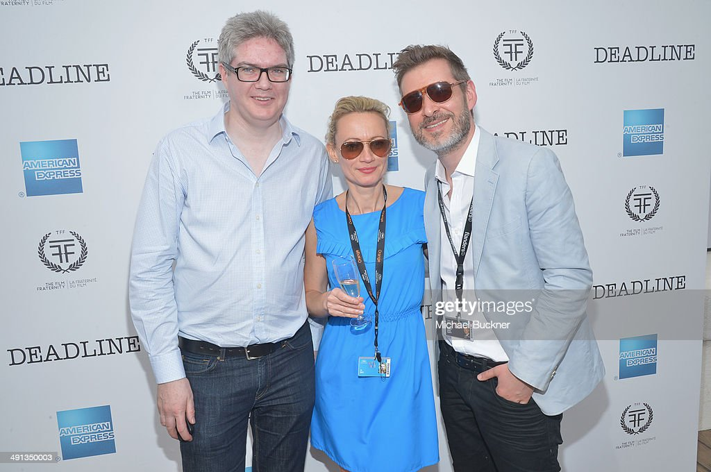 Frank Mannion Jo Ball and Alberto Lopez attend Deadline's Cocktails on the Croisette in partnership with AmericanExpress and Film Fraternity at La...