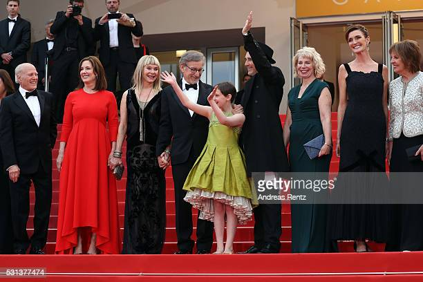 Frank Marshall Kathleen Kennedy Kate Capshaw Steven Spielberg Ruby Barnhill Mark Rylance Claire van Kampen Lucy Dahl and Penelope Wilton attend 'The...