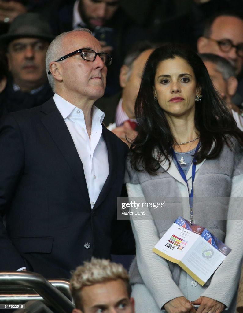 Frank McCourt and his wife Monica McCourt attend the French Ligue 1 match between Paris Saint-Germain and Olympique de Marseille at Parc des Princes on october 23, 2016 in Paris, France.