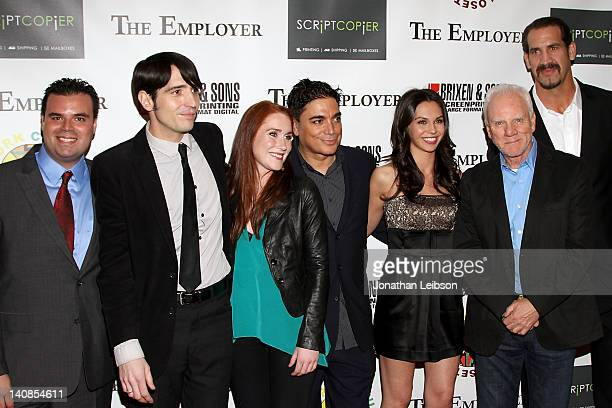 Frank Merle David Dastmalchian Paige Howard Michael DeLorenzo Katerina Mikailenko Malcolm McDowell and Matthew Willig arrive to the 'The Employer'...