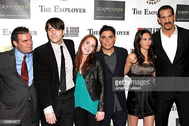 Frank Merle David Dastmalchian Paige Howard Michael DeLorenzo Katerina Mikailenko and Matthew Willig arrives to the 'The Employer' Los Angeles...