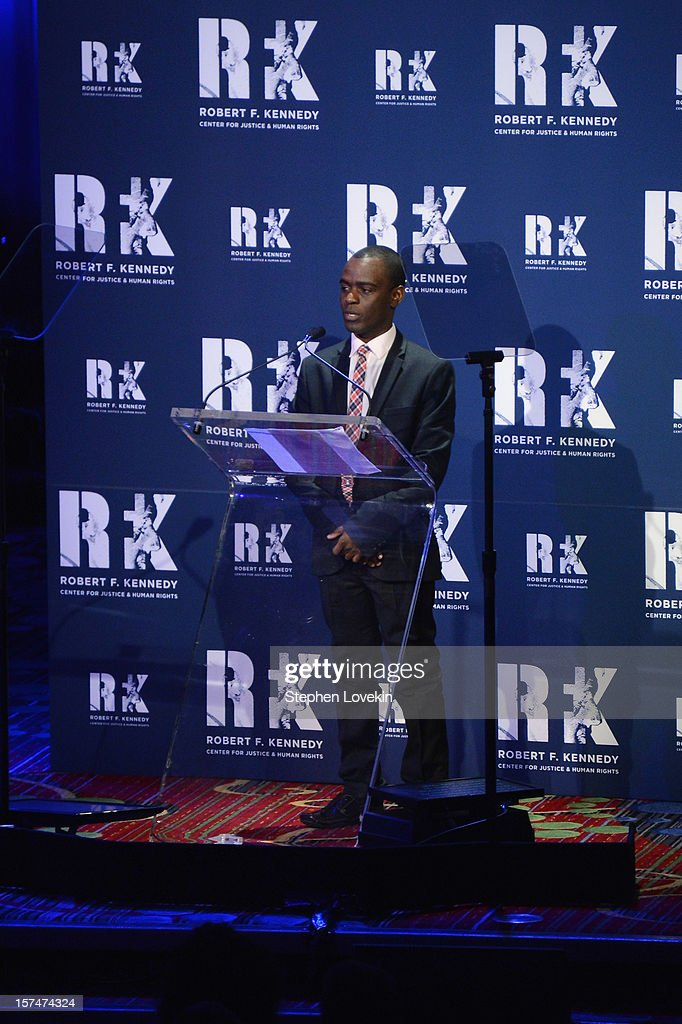 Frank Mugisha speaks onstage at the 2012 Ripple Of Hope Gala at The New York Marriott Marquis on December 3, 2012 in New York City.