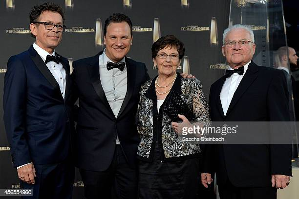 Frank Mutter Guido Maria Kretschmer his mother Marianne Kretschmer and his father Erich Kretschmer arrive at the 'Deutscher Fernsehpreis 2014' at...