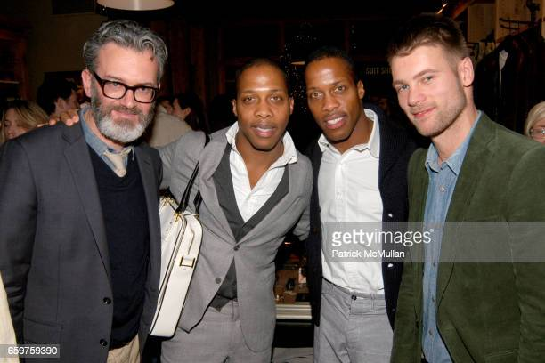Frank Muytjens Dexter Peart Byron Peart and Stefan Weisgerber at The MONOCLE Holiday Party at the J CREW Men's Shop at The J Crew Men's Shop on...