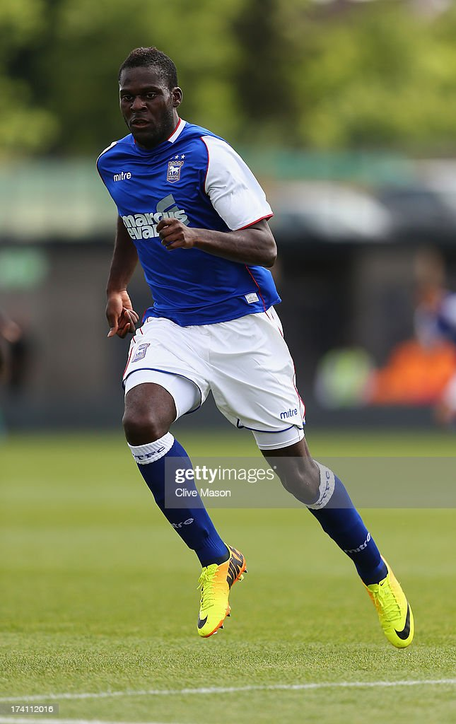 Frank Nouble of Ipswich Town in action during the pre season friendly match between Barnet and Ipswich Town at The Hive on July 20, 2013 in Barnet, England.