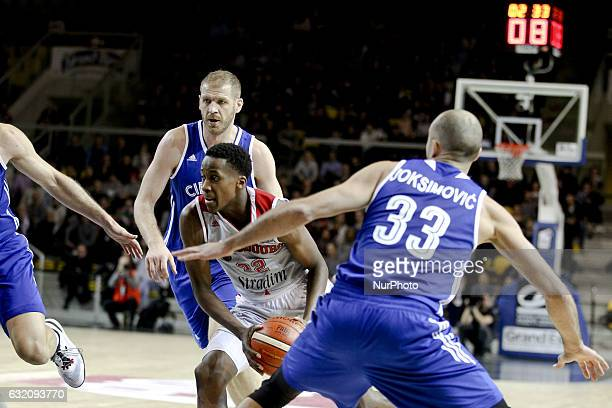 Frank Ntilikina 22 during SIG Strasbourg vs Cibona Basketball Champions League in Strasbourg France on January 18 2017