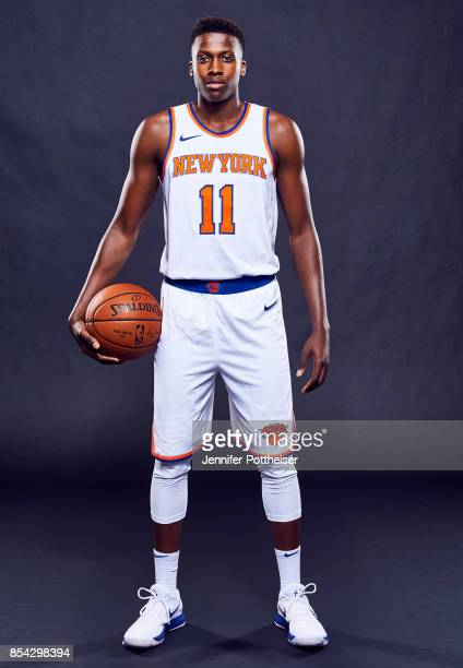 Frank Ntilikina of the New York Knicks poses for a portrait during Media Day on September 25 2017 at Knicks Practice Facility in Tarrytown New York...