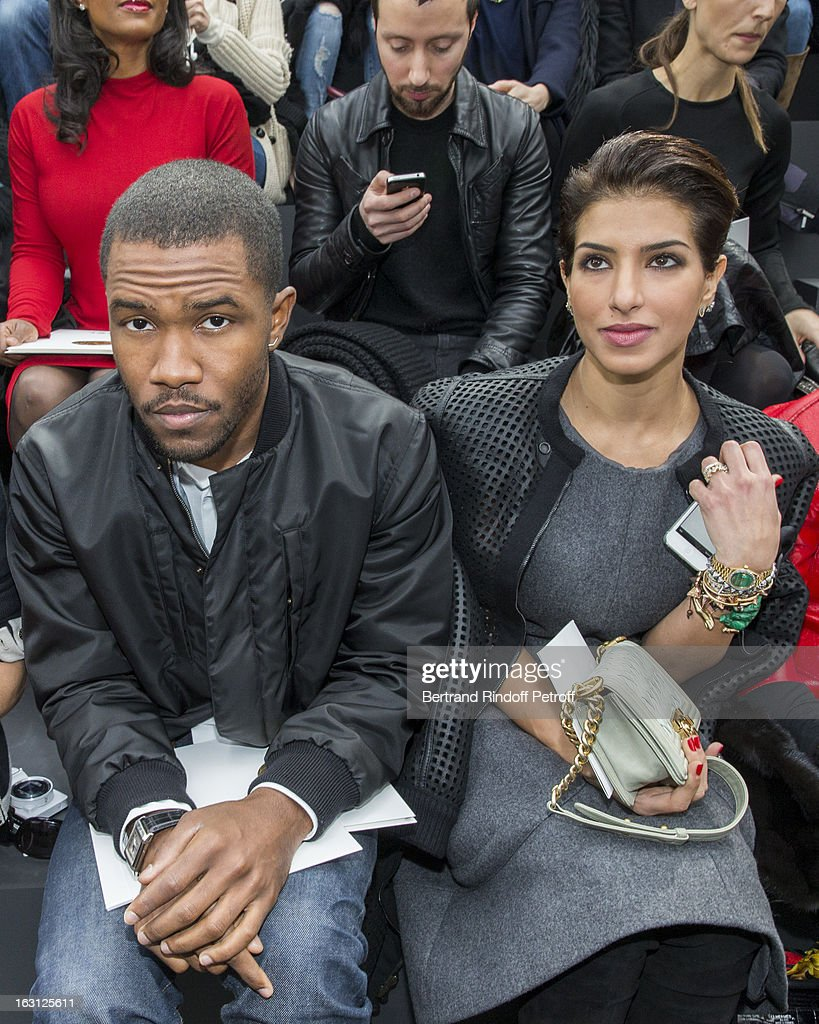 <a gi-track='captionPersonalityLinkClicked' href=/galleries/search?phrase=Frank+Ocean&family=editorial&specificpeople=7657747 ng-click='$event.stopPropagation()'>Frank Ocean</a> (L) and Princess Deena al-Juhani-Abdulaziz attend the Chanel Fall/Winter 2013 Ready-to-Wear show as part of Paris Fashion Week at Grand Palais on March 5, 2013 in Paris, France.