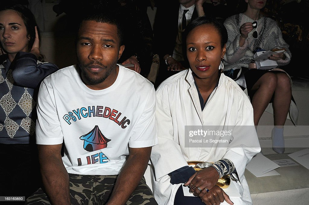 <a gi-track='captionPersonalityLinkClicked' href=/galleries/search?phrase=Frank+Ocean&family=editorial&specificpeople=7657747 ng-click='$event.stopPropagation()'>Frank Ocean</a> and Shala Monroque attend the Valentino Fall/Winter 2013 Ready-to-Wear show as part of Paris Fashion Week on March 5, 2013 in Paris, France.
