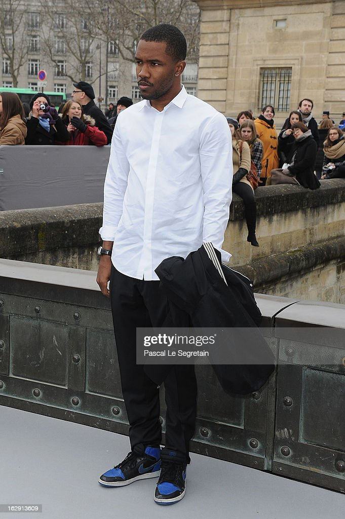 Frank Ocean arrives to attend the Christian Dior Fall/Winter 2013 Ready-to-Wear show as part of Paris Fashion Week on March 1, 2013 in Paris, France.