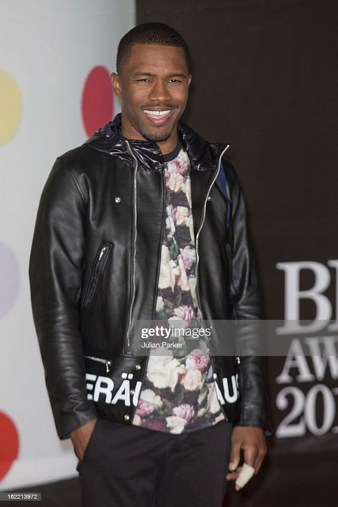 Frank Ocean attends the Brit Awards 2013, at 02 Arena on February 20, 2013 in London, England.