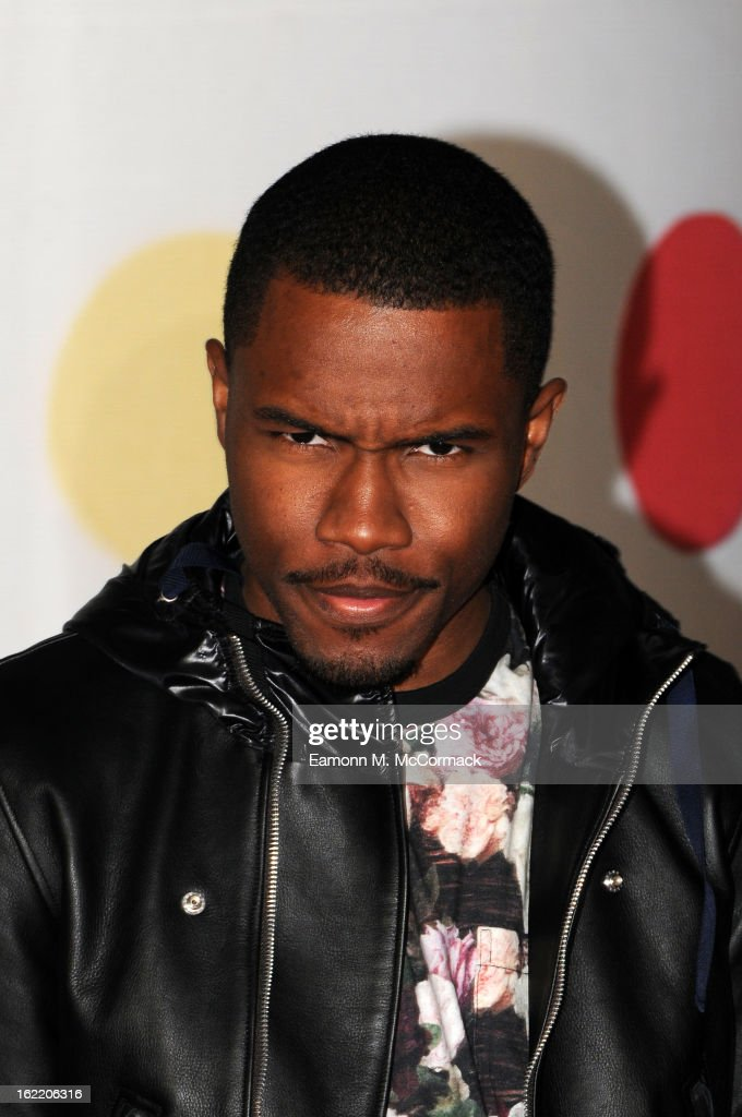 Frank Ocean attends the Brit Awards 2013 at the 02 Arena on February 20 2013 in London England