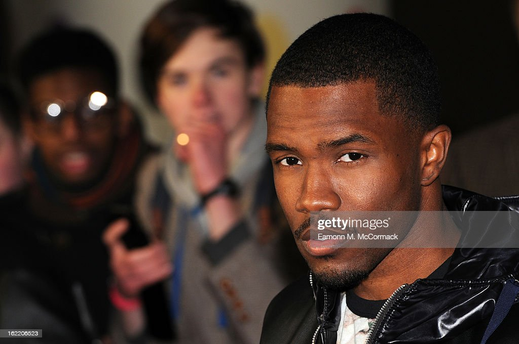 Frank Ocean attends the Brit Awards 2013 at the 02 Arena on February 20, 2013 in London, England.