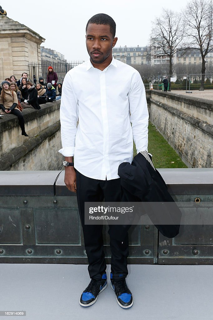 Frank Ocean attends the Christian Dior Fall/Winter 2013 Ready-to-Wear show as part of Paris Fashion Week on March 1, 2013 in Paris, France.