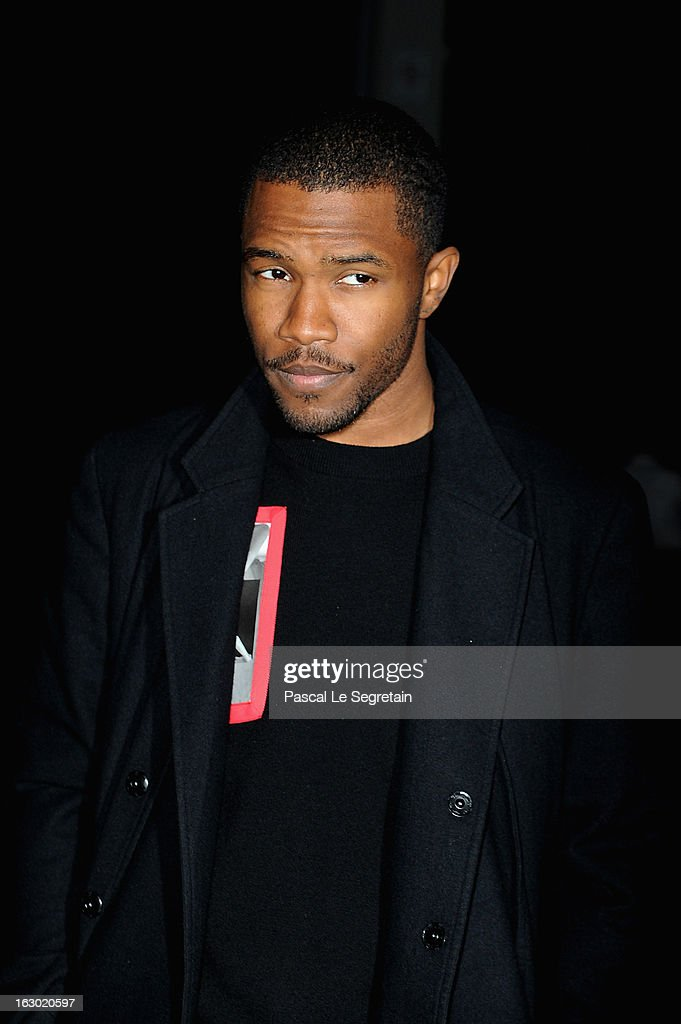 <a gi-track='captionPersonalityLinkClicked' href=/galleries/search?phrase=Frank+Ocean&family=editorial&specificpeople=7657747 ng-click='$event.stopPropagation()'>Frank Ocean</a> attends the Givenchy Fall/Winter 2013 Ready-to-Wear show as part of Paris Fashion Week on March 3, 2013 in Paris, France.