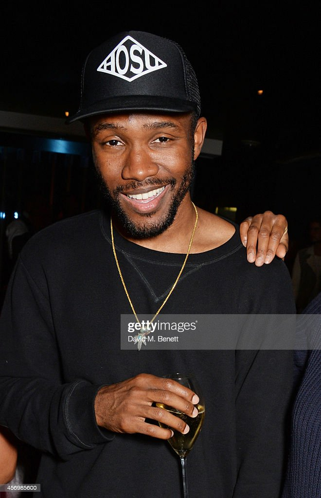Frank Ocean attends the launch party as Mondrian London opens its doors on London's South Bank at Mondrian Hotel on October 9 2014 in London England