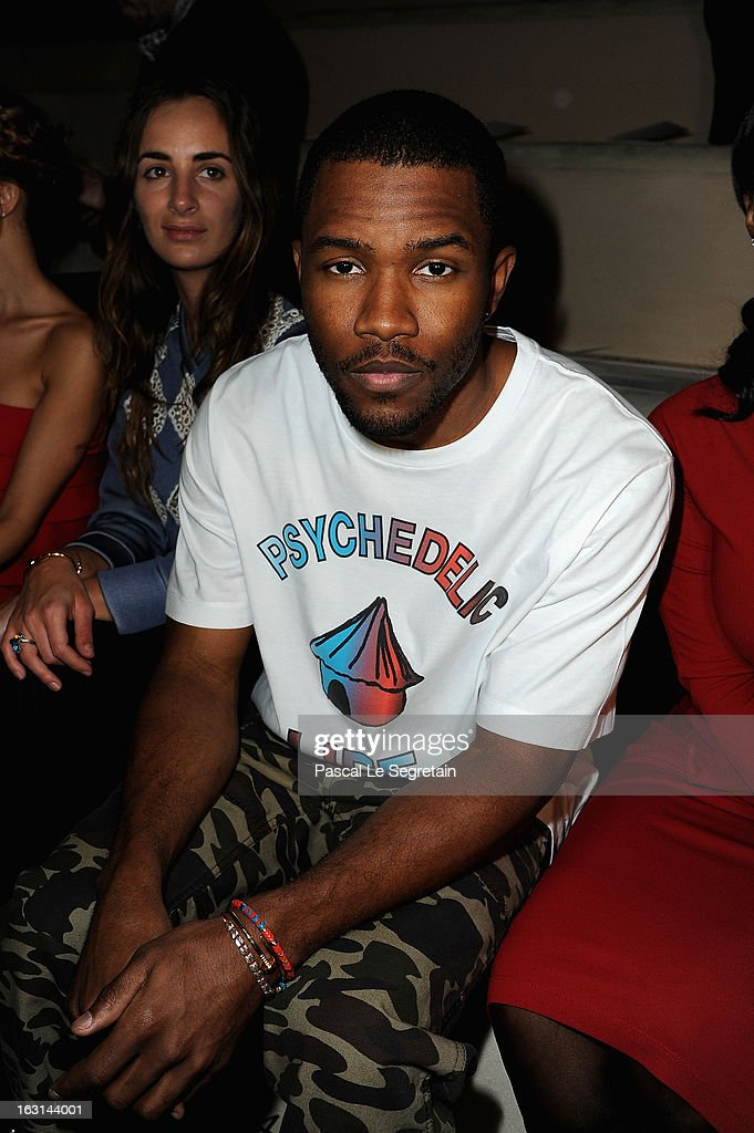 <a gi-track='captionPersonalityLinkClicked' href=/galleries/search?phrase=Frank+Ocean&family=editorial&specificpeople=7657747 ng-click='$event.stopPropagation()'>Frank Ocean</a> attends the Valentino Fall/Winter 2013 Ready-to-Wear show as part of Paris Fashion Week on March 5, 2013 in Paris, France.