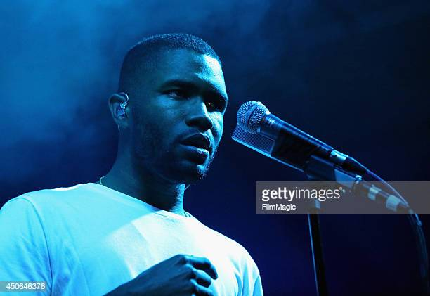 Frank Ocean performs at The Other Tent during day 3 of the 2014 Bonnaroo Arts And Music Festival on June 14 2014 in Manchester Tennessee