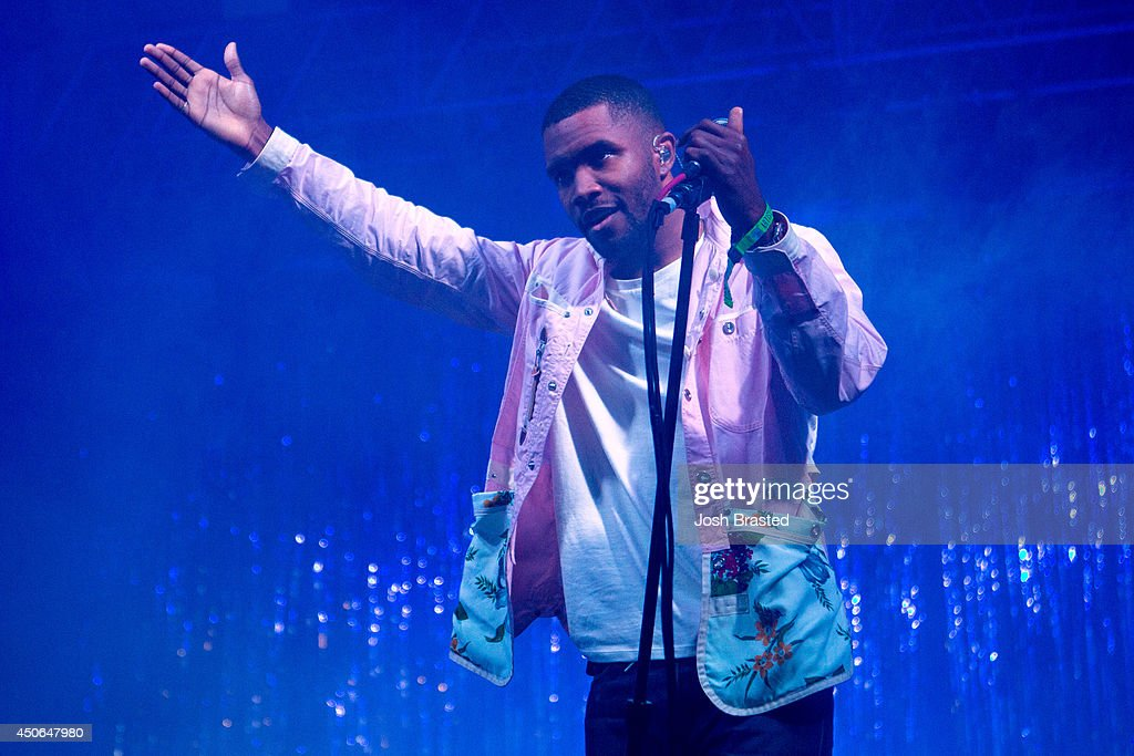 Frank Ocean performs during the 2014 Bonnaroo Music Arts Festival on June 14 2014 in Manchester Tennessee