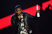 Frank Ocean receives the award for International Male Solo Artist on stage during the Brit Awards 2013 at the 02 Arena on February 20 2013 in London...