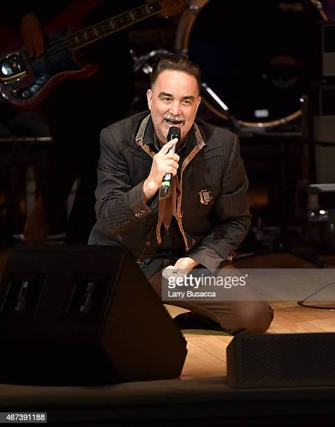 Frank Orrall of Thievery Corporation performs onstage during The Music Of David Byrne Talking Heads at Carnegie Hall on March 23 2015 in New York City