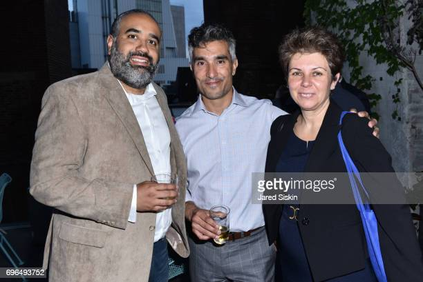 Frank Padilla Chris Mesbah and Pat D attend Hill West Whitehall 2017 Summer Soiree at The High Line Room at The Standard Hotel on June 15 2017 in New...