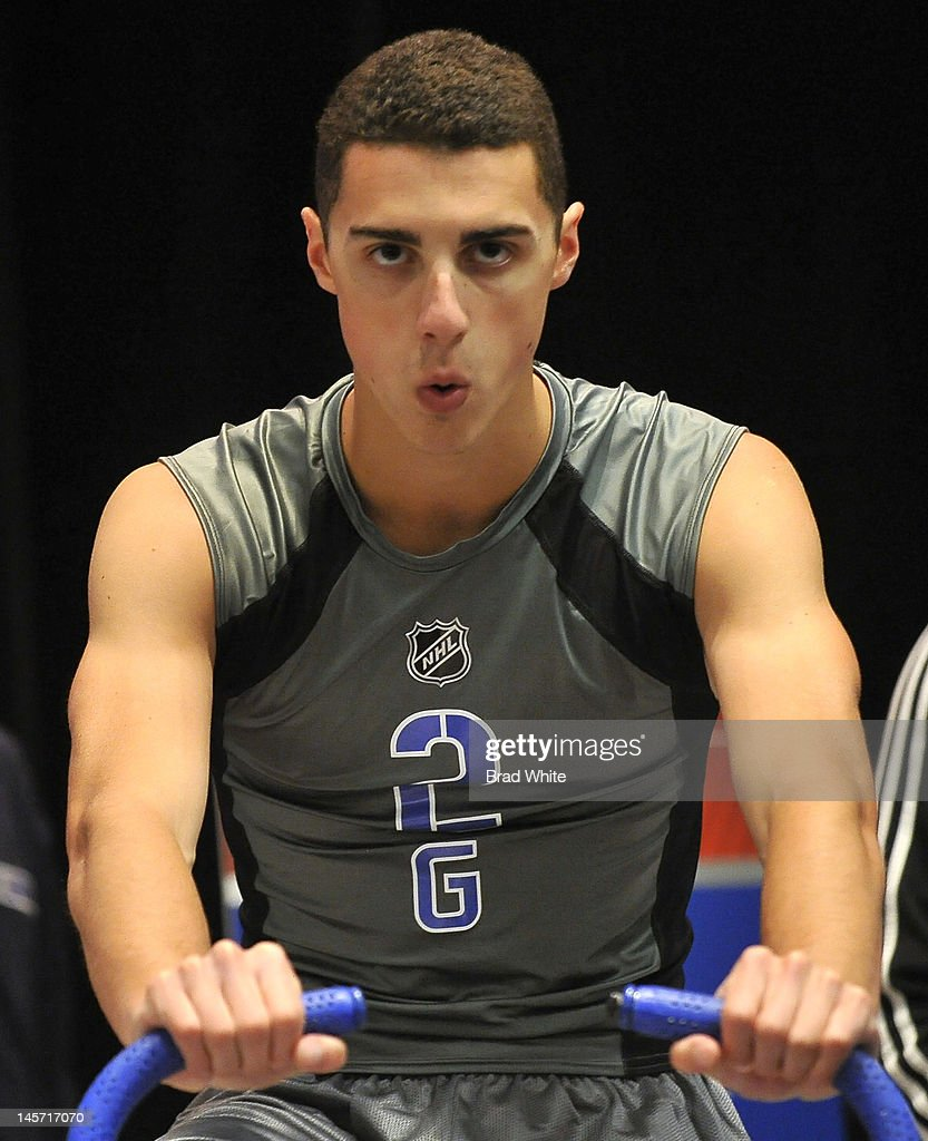 Frank Palazzese #71 takes part in the 2012 NHL Combine June 2, 2012 at International Centre in Toronto, Ontario, Canada.