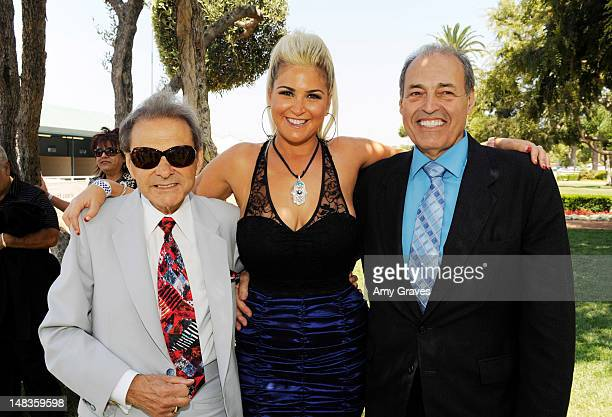 Frank Panza Josie Goldberg and Phil Daniels attend the debut of reality TV star and playboy model Josie Goldberg's personal race horse at Hollywood...