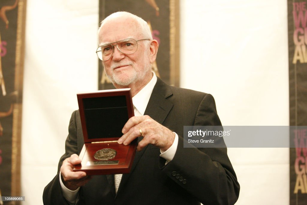 Frank Pierson recipient of the Morgan Cox Award during 2006 Writers Guild Awards Press Room at Hollywood Palladium in Hollywood California United...
