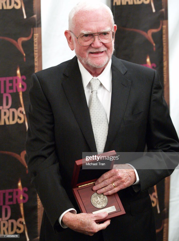 Frank Pierson recipient of the Morgan Cox Award during 2006 Writers Guild Awards Press Room at The Hollywood Palladium in Hollywood California United...