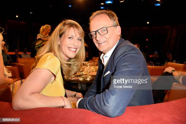 Frank Plasberg an his wife Anne Gesthuysen attend the NDR Talk Show on June 16 2017 in Hamburg Germany