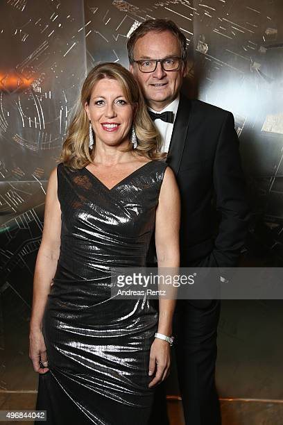 Frank Plasberg and Anne Gesthuysen are seen before the Bambi Awards 2015 at Kryolan Beauty Lounge on November 12 2015 in Berlin Germany