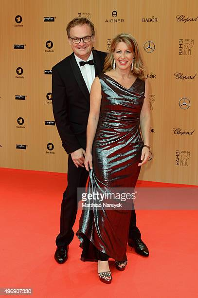Frank Plasberg and Anne Gesthuysen attend the Bambi Awards 2015 at Stage Theater on November 12 2015 in Berlin Germany