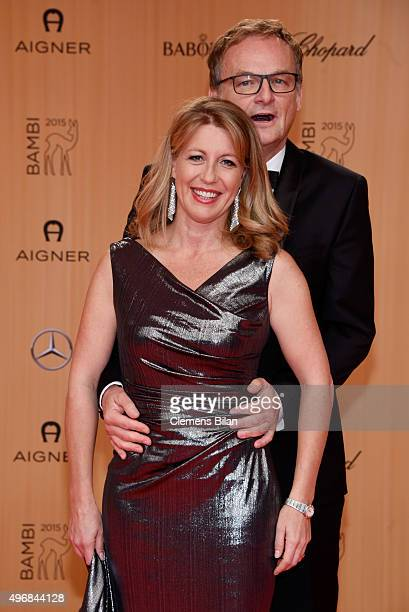 Frank Plasberg and his wife Anne Gesthuysen attend the Bambi Awards 2015 at Stage Theater on November 12 2015 in Berlin Germany