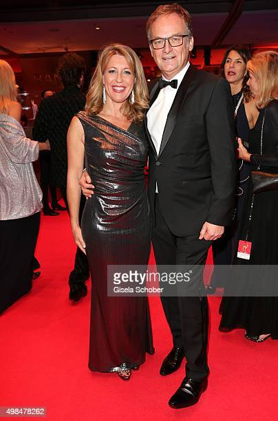 Frank Plasberg and his wife Anne Gesthuysen during the Bambi Awards 2015 at Stage Theater on November 12 2015 in Berlin Germany