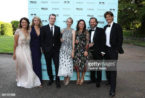 Frank Pope and guests attend a dinner hosted by Doutzen Kroes and Lucy Yeomans in honour of Save the Elephants at The Orangery on June 12 2017 in...
