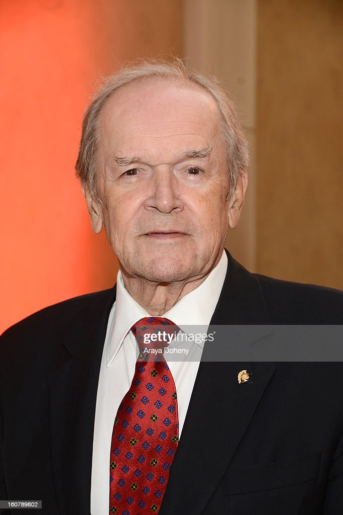 Frank Price attends the dedication of the Sumner M. Redstone Production Building at USC on February 5, 2013 in Los Angeles, California.