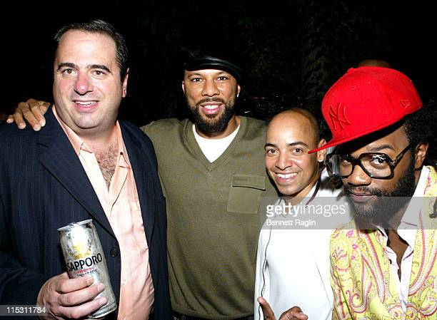 Frank Pronio Common and Coltrane Curtis during 2006 MTV Video Music Awards Sapporo Maybach Present Common Famke Janssen's VMA Cookout 2006 at Sky...