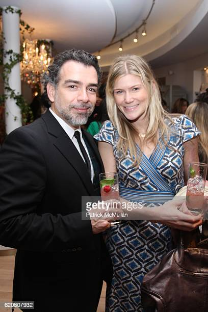 Frank Quesada and Rachel Duda attend TRACY REESE Secret Garden Party at Tracy Reese Boutique on March 27 2008 in New York City