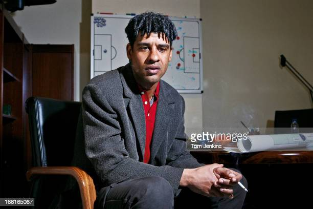 Frank Rijkaard the Barcelona FC manager in his office beneath the Nou Camp stadium on January 27th 2005 in Barcelona Spain An image from the book 'In...