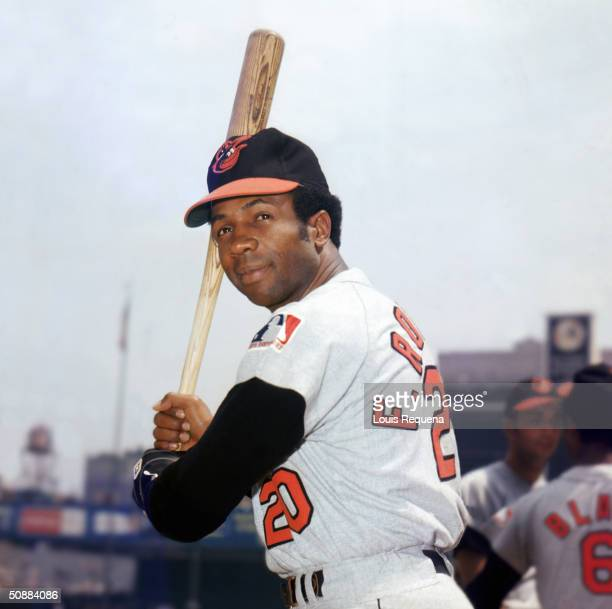 Frank Robinson of the Baltimore Orioles poses for a portrait Robinson played for the Orioles from 19661971